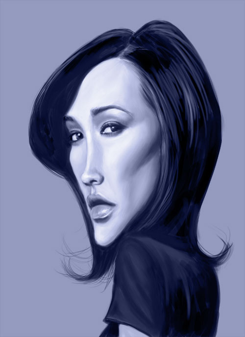 Maggie Q by markdraws
