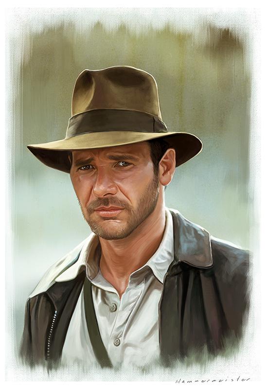 Indiana Jones by markdraws