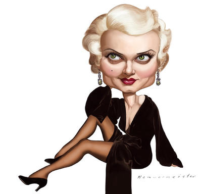 Jean Harlow by markdraws