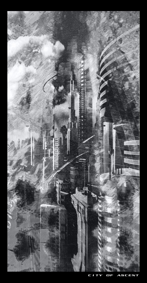 City of Ascent -blacknwhite-