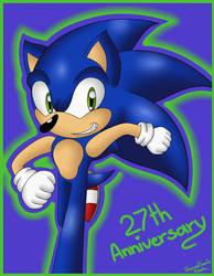 Sonic's 27th Anniversary by EternalSonicFreak