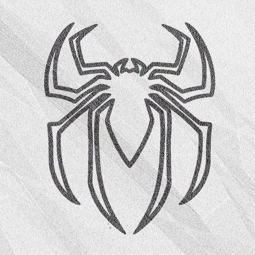 Venom spiderman symbol drawing - photo#17