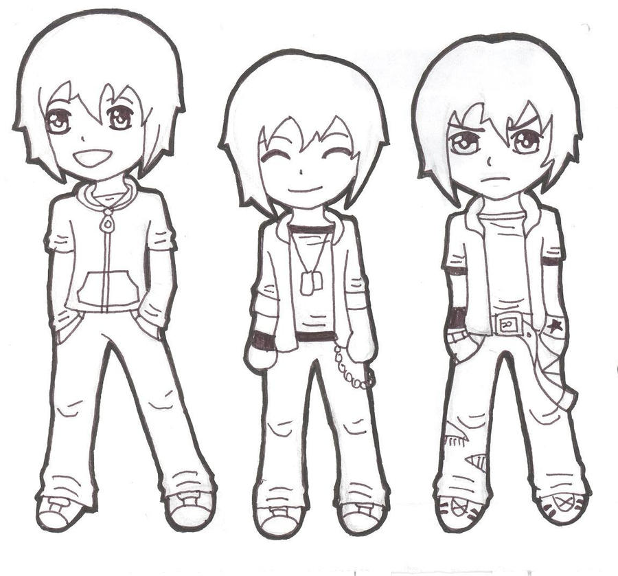 chibi boys by darkmoon-13 on DeviantArt