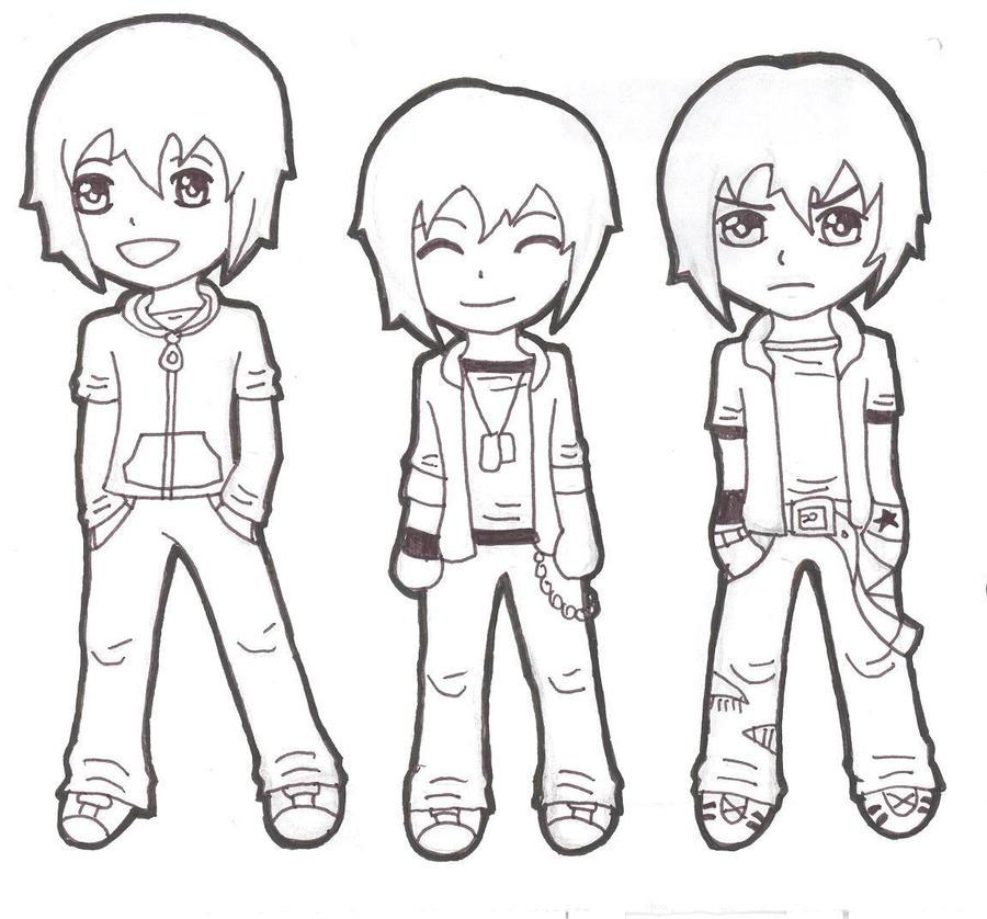 Chibi Boys By Darkmoon 13 On Deviantart How To Draw Chibi Boy Clothes Free