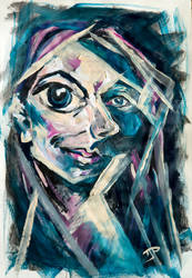 Abstract Self-Portrait by maniphisto