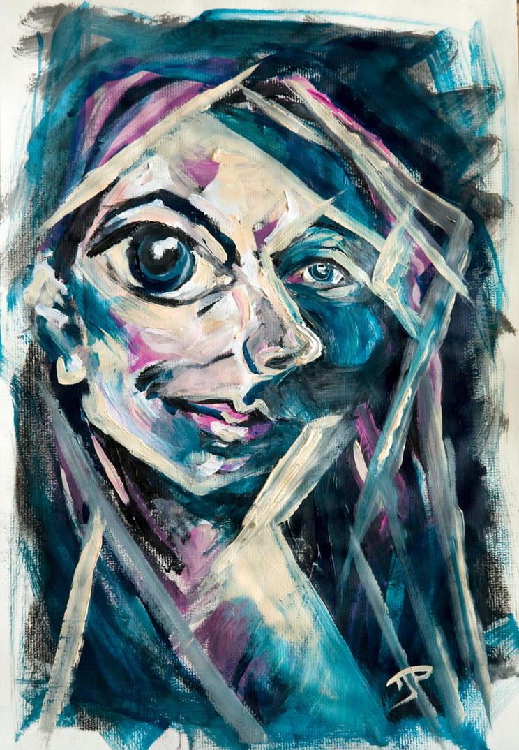 Abstract Portrait Paintings Abstract Self Portrait by