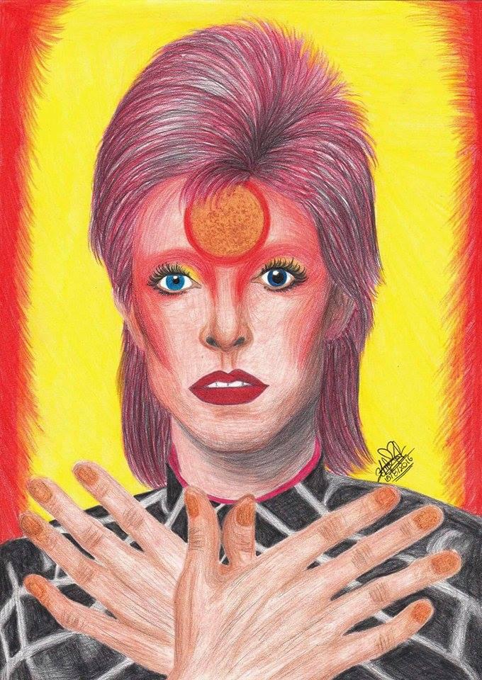 David Bowie Ziggy Stardust by ChristineArrow