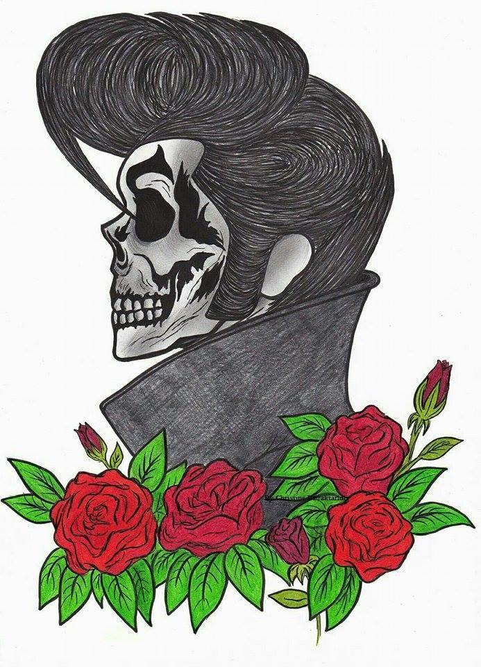 Elvis Presley Skeleton by ChristinePresley