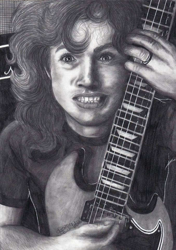 Angus Young by ChristinePresley