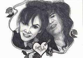 Slash and Meegan by ChristinePresley