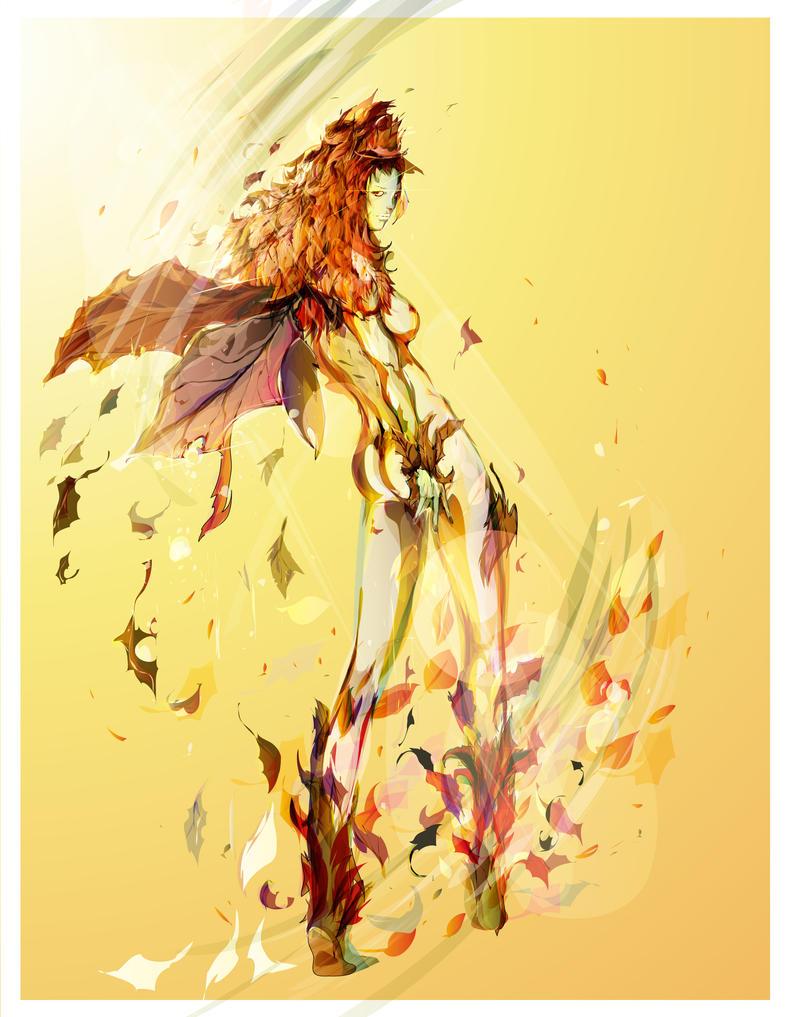fall fairy by bboypion