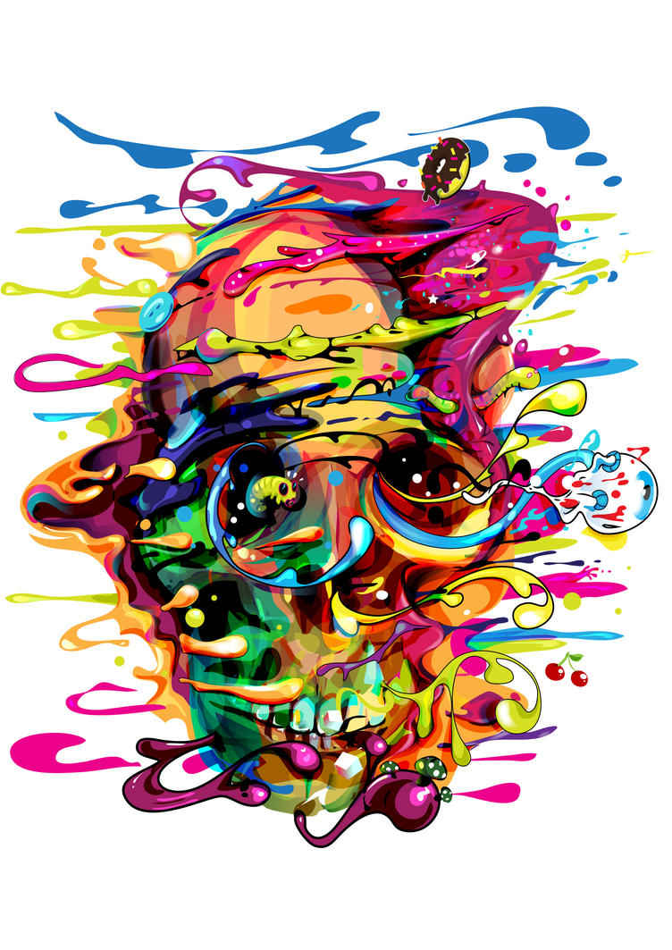 psycho skull by bboypion