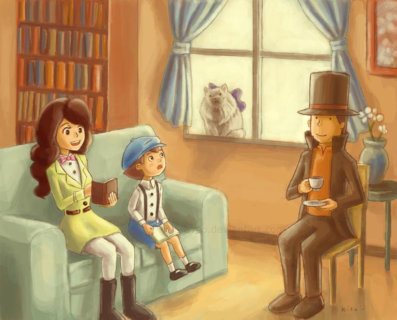 Layton and Friends by kila-ibyao