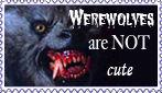 Uncute werewolf stamp