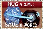 Stamp Hug your Game Master by Nefermeritaset