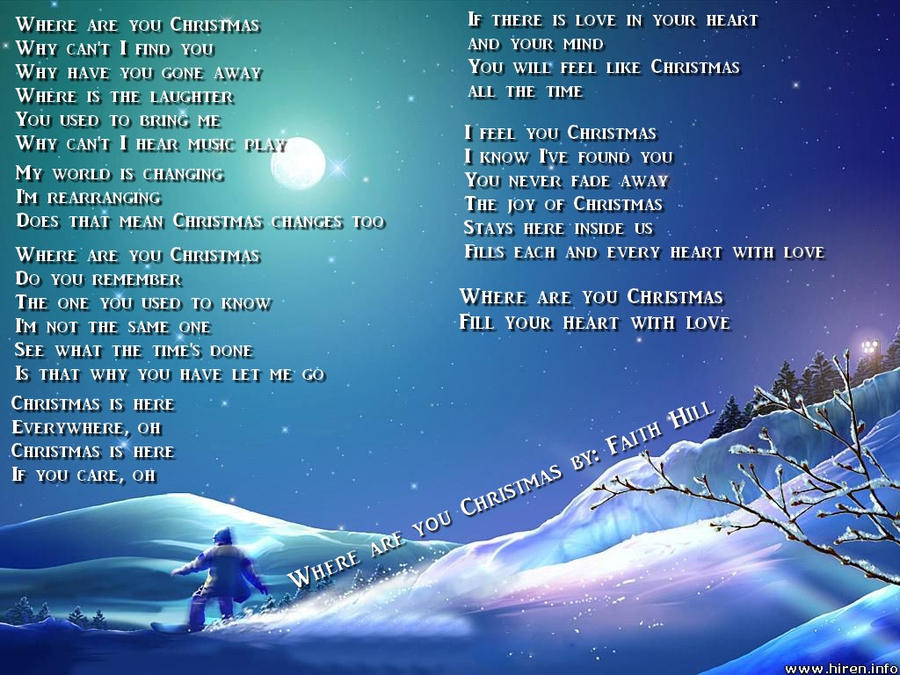 where are you christmas by love4music94 on deviantart - Faith Hill Where Are You Christmas