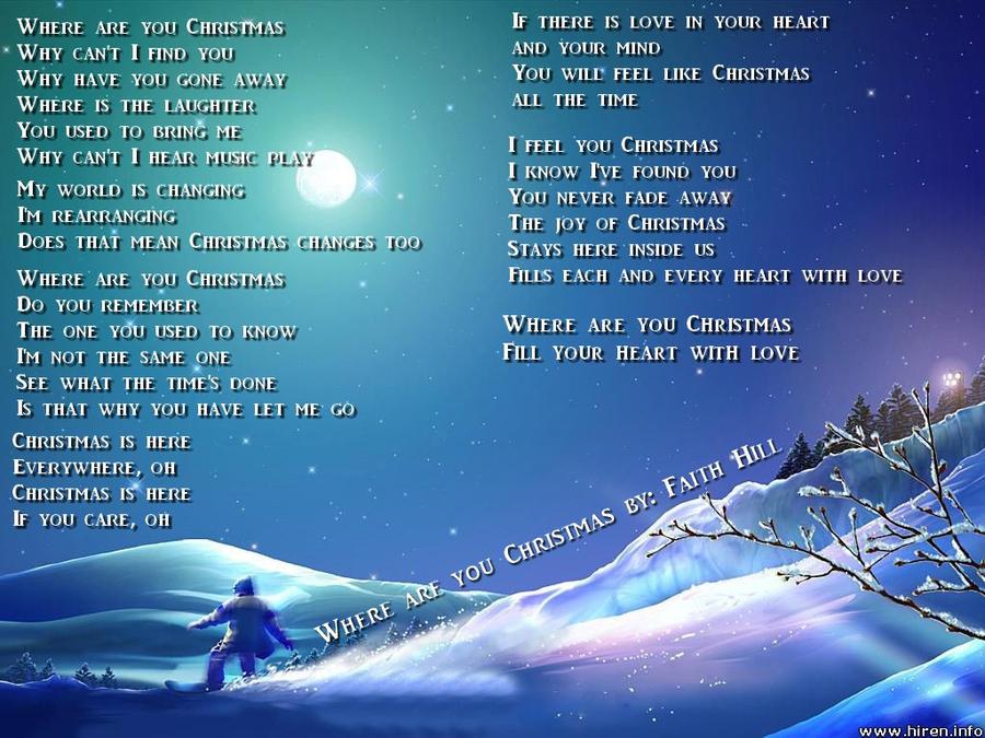 Where Are You Christmas.Where Are You Christmas By Love4music94 On Deviantart