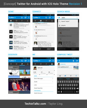 Twitter for Android - with ICS Theme