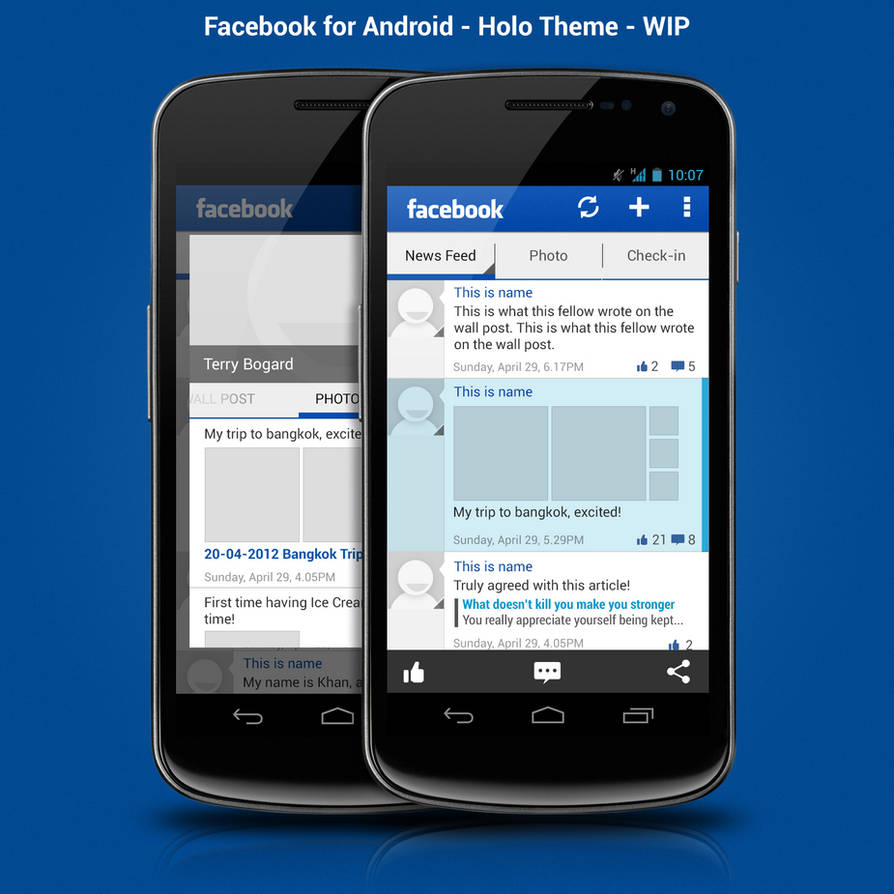 Facebook for Android - ICS - WIP by ghost301
