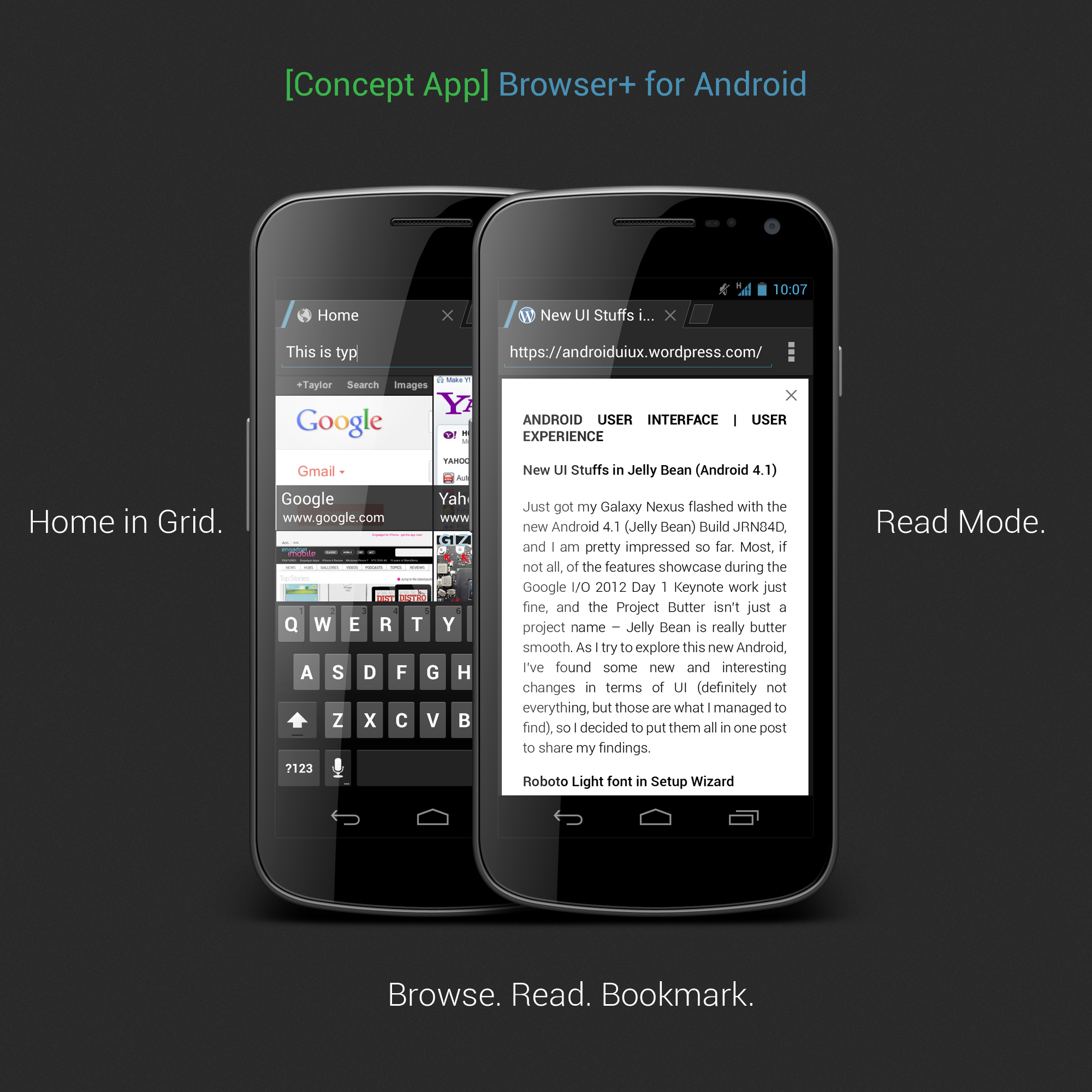 [Concept] Browser+ for Android by ghost301