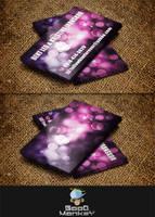 Bokeh Theme (Business Card) by GoodMonkey