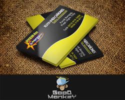 Yellow-Black Theme (Business Card) by GoodMonkey