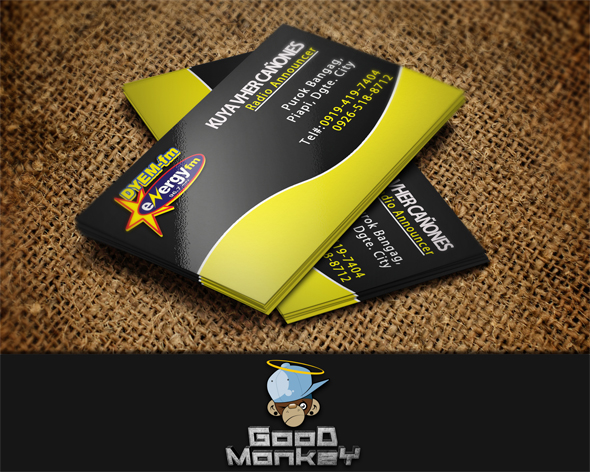 Yellow black theme business card by goodmonkey on deviantart yellow black theme business card by goodmonkey reheart Gallery