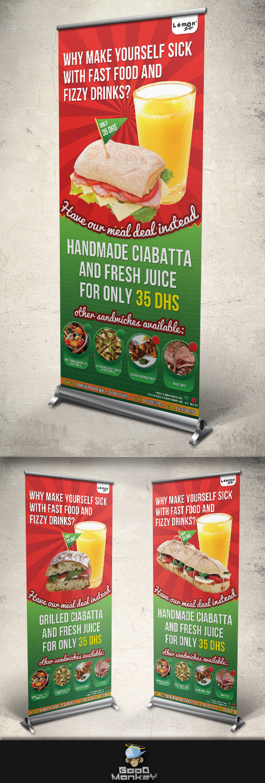 Lemon Bar Meal Deal (Roll-Up Banner) by GoodMonkey