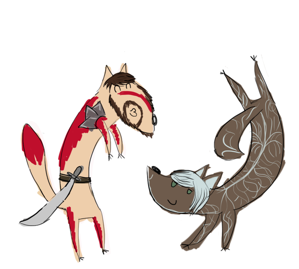 dragon age dogs by littlebearblue