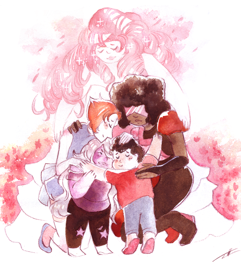 Wanted to draw steven and all his mums for a long time, this show means so much to me right now ;-; Lots of love, Tosca  also on tumblr