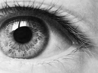 Eye Study - Graphite by binarydreaming