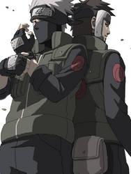 Yamato and Kakashi by kittoX1313
