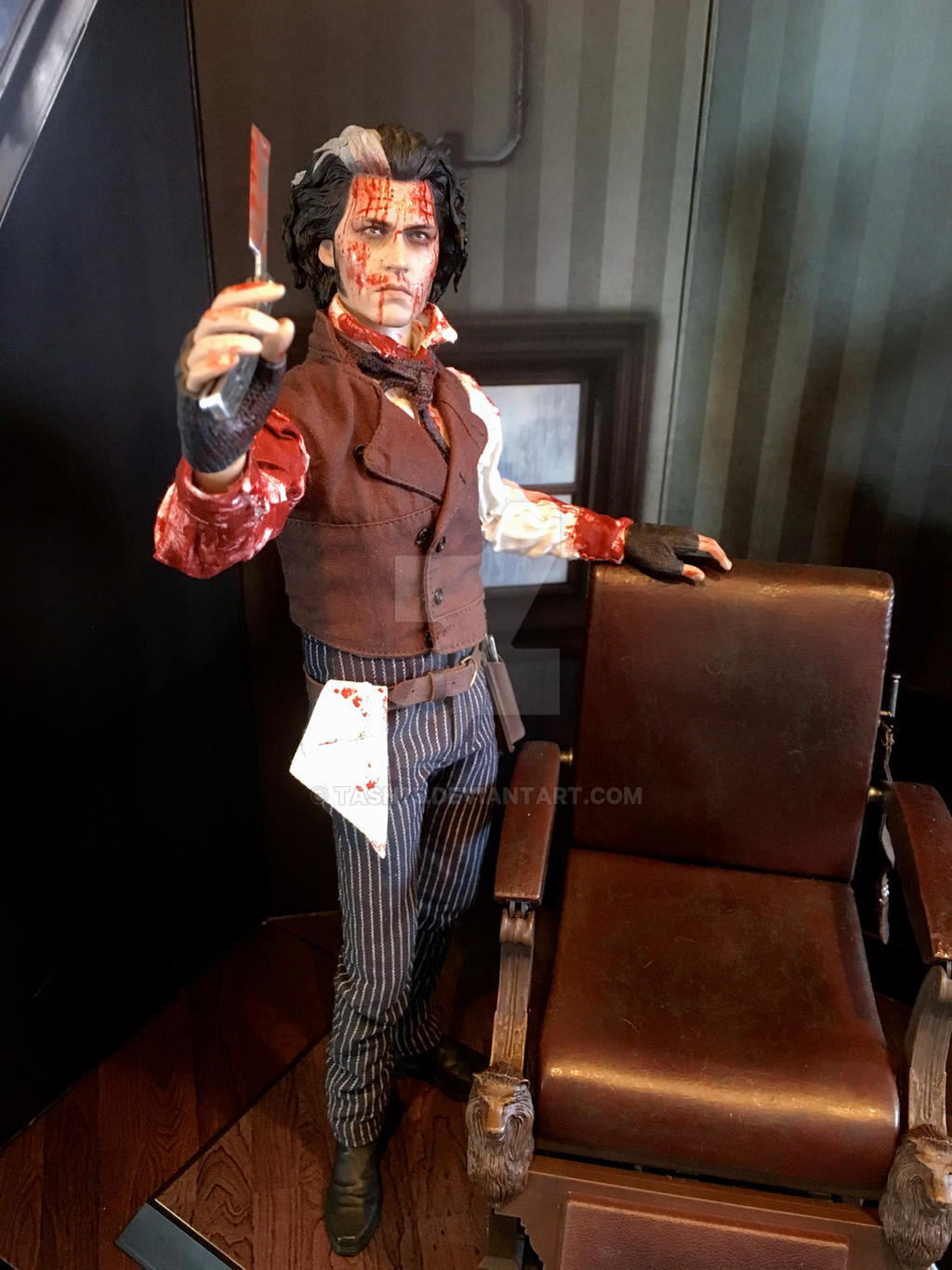 1 6 Hot Toys Sweeney Todd Customised By Tash75 On Deviantart