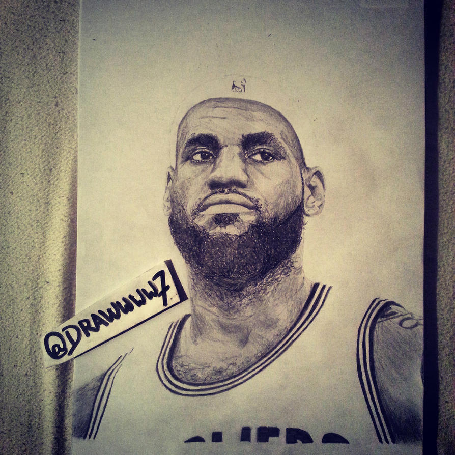 how to draw lebron james logo