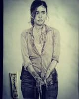 Christian Serratos as Rosita in The Walking Dead by Drawwww7