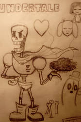 Undertale doodles #13 - Papyrus's spaghetti by 97emisie