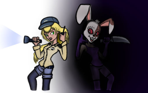 Security Gal vs Vanny