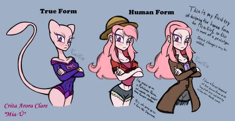 Crita's human form design1 (MewGirl)