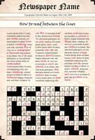 Typography Newspaper by Biberfan