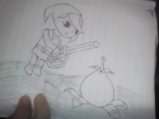 Link Discovers a Bomb Flower by LegendZeldaNet