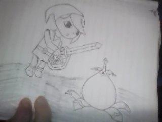Link Discovers a Bomb Flower by LegendZeldaNet