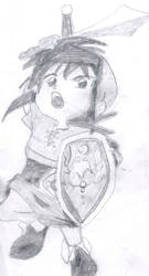 Anime Style Link by LegendZeldaNet