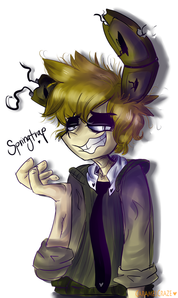 Human springtrap by caramelcraze on deviantart for Russian foxy