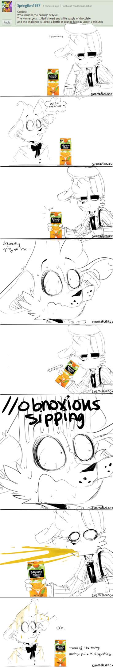 .Orange Juice. by CaramelCraze