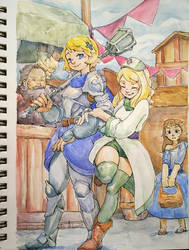 Paladin Princess and Cleric Princess