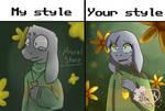 my style your style by @AsrielStarz by HollyFlowerArt