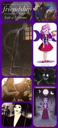 Hekatia The Necromancer collage by Artisticgirl2000