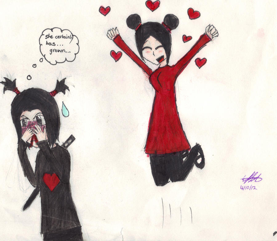 Pucca and Garu: All grown up...kinda by ejb1997 on DeviantArt