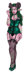 Demon-huntress channelling her Succubus (Ashoke) by MercuryAshoke