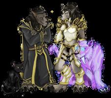 Leyami and Roen Hawthorn (Commission) by MercuryAshoke